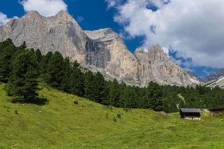 rosengarten: View over the Rosengarten Group in the Dolomites.