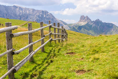 Fence in the Dolomites