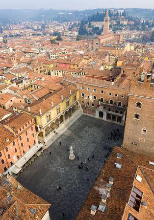 piazza: Piazza dei Signori also called Piazza Dante, a medieval square in the old town of Verona