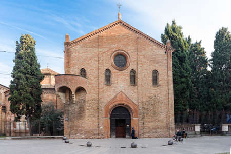 saint stephen cathedral: Santo Stefano also called Seven Churches in the old town of Bologna Stock Photo