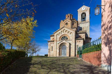 piedmont: The parish church of San Martino in Gavazzana, Piedmont, Italy