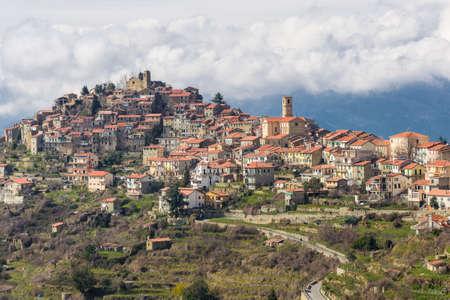 sanremo: The ancient village of Bajardo in the inland of Sanremo, Liguria, Italy