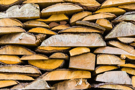 burl wood: wood ready to be burned Stock Photo