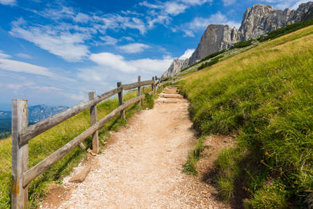 rosengarten: Panorama of the Rosengarten Group in the Dolomites