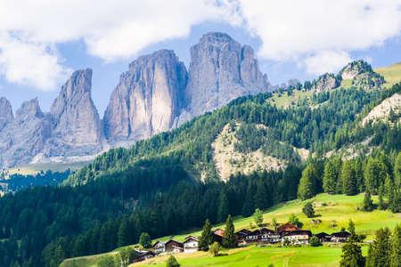 fassa: View in the dolomitic landscape in the Fassa Valley