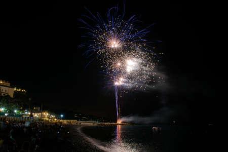 patron: Fireworks to celebrate the patron saint of Noli