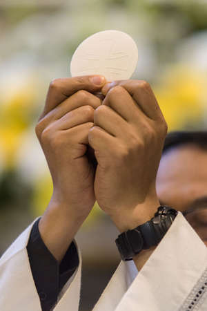 rite: The christian rite of the Communion during the mass