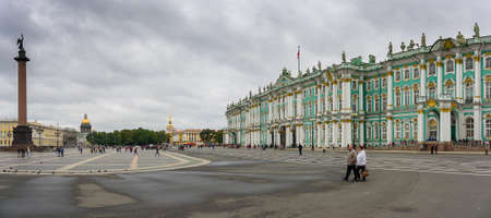 The famous Hermitage, one of the largest museums of the world, situated in Saint Petersburg