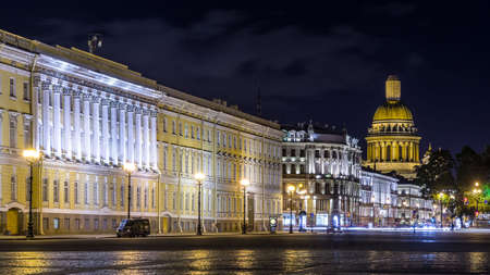 View over Saint Isaac Cathedral from Palace Square