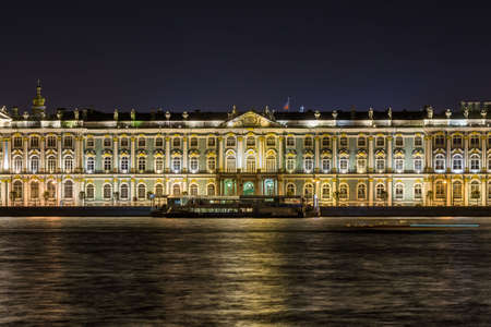 The famous Hermitage, one of the largest museum of the world, situated in Saint Petersburg Editorial