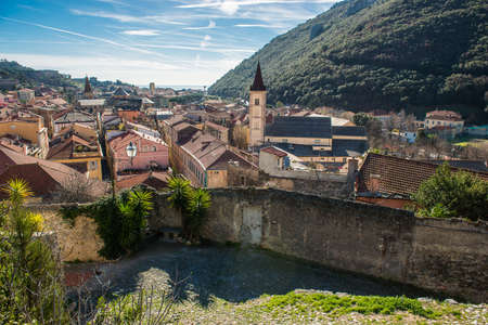 View over the Village of Finalborgo, Italy