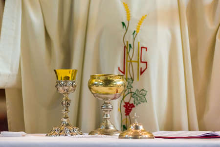 The Holy Bread rite, during the Mass, in a catholic church Reklamní fotografie