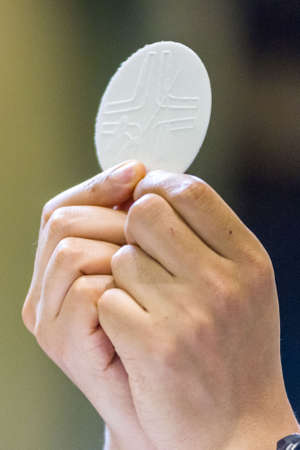 The Holy Bread rite, during the Mass, in a catholic church Zdjęcie Seryjne