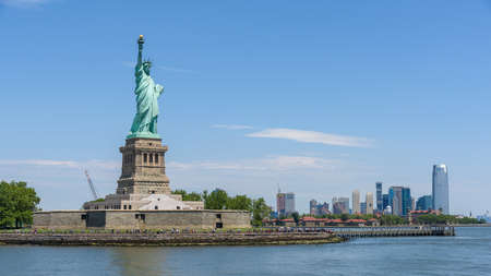 One of the USA symbols:  Statue of Liberty in New York City Stock Photo