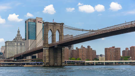 View over Lower Manhattan and the Brooklyn Bridge, from Brooklyn