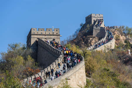 Portion of the Great Wall in Badaling, near Beijing. One of the New 7 Wonders and Unesco Heritage Site Editorial