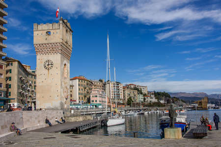 Tower Leon Pancaldo also called Torretta, symbol of the city of Savona