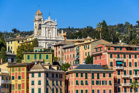 Townscape of San Margherita Ligure on the Italian Riviera Imagens