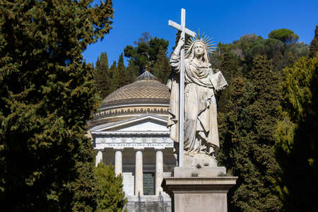 The monumental cemetery of Staglieno in Genoa, one of the largest cemetery in Europe