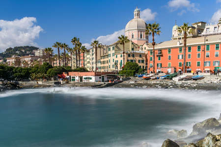 Townscape and promenade of the village of Pegli, in the city of Genoa