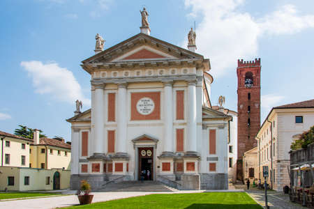 The cathedral of Castelfranco Veneto, situated in the main square of the walled city