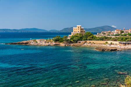 Promontory with wonderful seewater in Alghero, Sardinia 스톡 콘텐츠