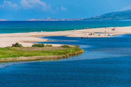 Beautiful sandy beach of San Pietro al mare near Valledoria in the north of Sardinia