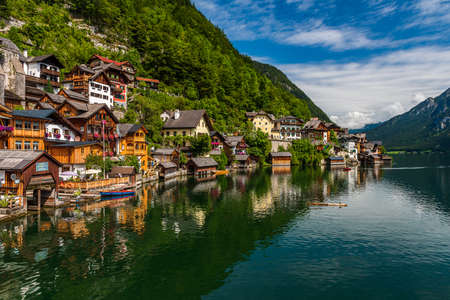 The old town of Hallstatt on the namesake lake, one of the sites in Austria