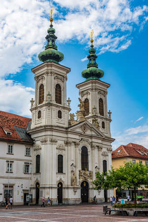 Church in the old town of Graz, Styria, Austria