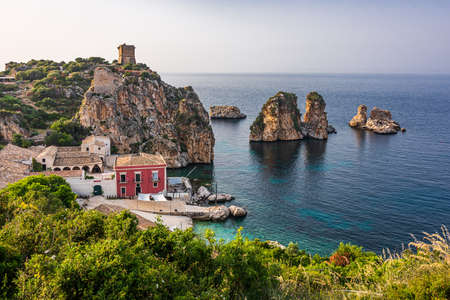 Old village of Scopello in Sicily, famous for the tuna fishing