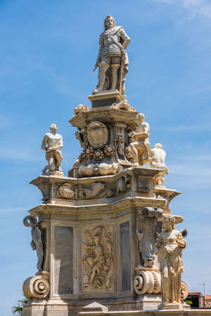 Teatro Marmoreo is baroque monument in the gardens facing the Norman Palace in Palermo, Sicily Standard-Bild