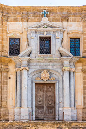 The Church of Saint Mary of the Admiral, also called La Martorana, in the old town of Palermo, Sicily