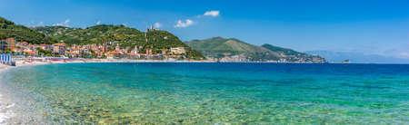 The wonderful seewater of the italian riviera in Noli, Liguria during summer