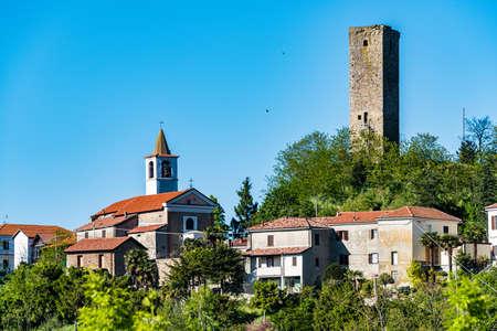 View of the village of Castelletto d'Erro, near Acqui Terme, in Piedmont, Italy