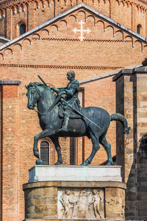 The Equestrian Statue of Gattamelata is a sculpture by Italian early Renaissance artist Donatello, dating from 1453,located in the Piazza del Santo in Padua, Italy,