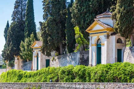 The Seven Churches Sanctuary (Santuario delle Sette Chiese or Via Romana) with paintings by Palma il Giovane in Monselice, Veneto Standard-Bild