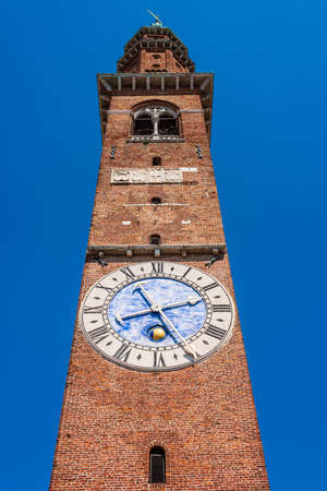 Clock tower of the Basilica Palladiana, a Renaissance building (an Unesco World Heritage Site) in the central Piazza dei Signori in Vicenza