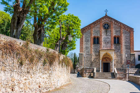Ancient church in the venetian village of Monselice