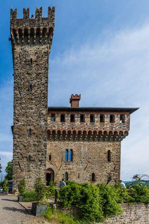 The old castle of Trisobbio, a little village in Piedmont near Ovada