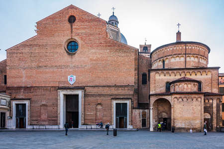 Padua Cathedral is a Roman Catholic minor basilica and the cathedral located on the east end of Piazza Duomo, adjacent to the Bishop's palace, in Padua.
