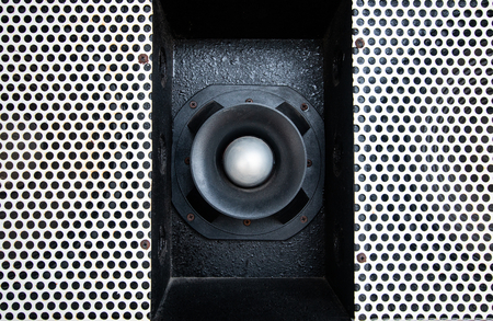 close up audio Loudspeaker texture background , electroacoustics music pattern .