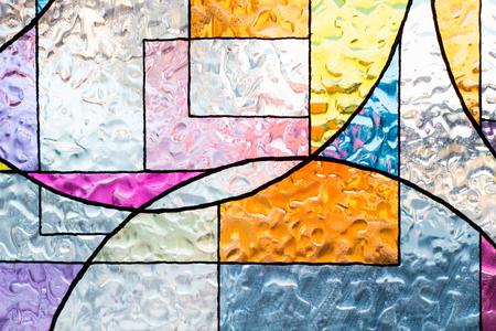 buntes Christusglas gebeizt. abstrakte mehrfarbige