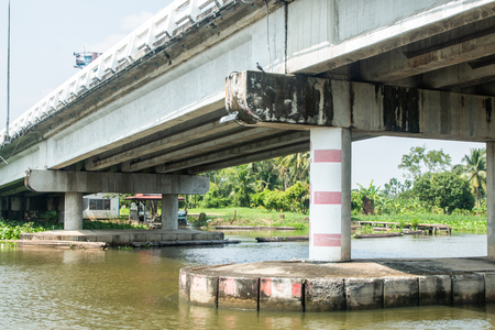 Bridge over the river Nakhon Pathom Thailand