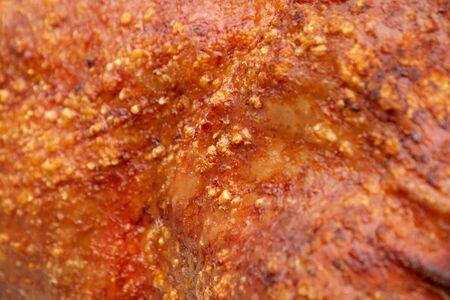 sucking pig roasted , pork barbecue grilled food .
