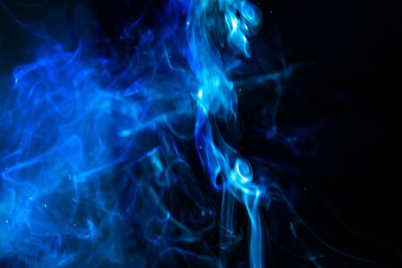 blur blue smoke abstract texture background