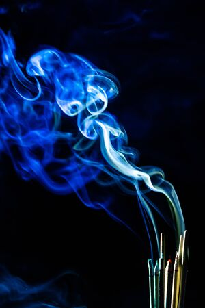 blur smoke abstract texture from incense . Stock Photo