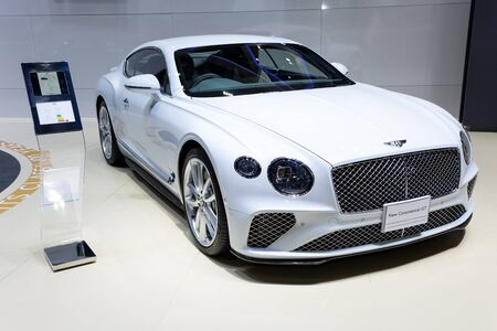 Nonthaburi , Thailand - April 3, 2019: The New Bentley Continental GT suv luxury sport car presented in motor expo .