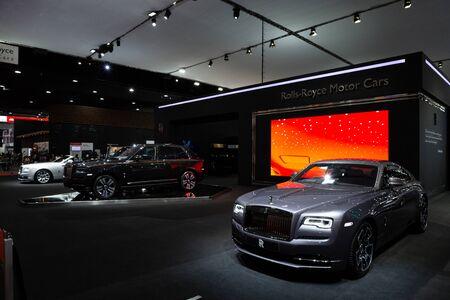 Thailand - April 3, 2019: Rolls Royce luxury car presented in motor show Thailand .