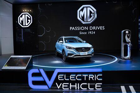 Thailand - April, 2019 : MG ZS EV on display at Thailand International Motor Show