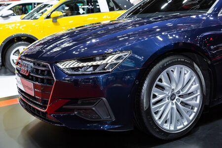 Thailand - April, 2019 : Audi A7 Sportback on display at Thailand International Motor Show